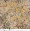 Messtischblatt 25 Recklinghausen-Ostviertel 1907 vs 2013.png