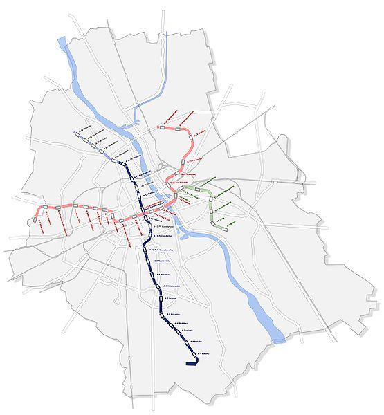 plan miasta Warszawy - mapa