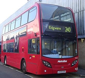 London Buses route 240 - Metroline Alexander Dennis Enviro400 in June 2014