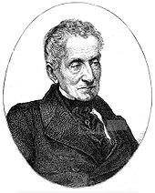 Metternich im Alter (von Hugo Bürkner). Der Stich ist der letzten Fotografie Metternichs nachempfunden, die sich im Besitz der Familie Metternichs befand.[33] (Quelle: Wikimedia)