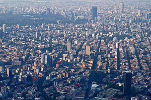 Oportunidades - A view of Mexico city.