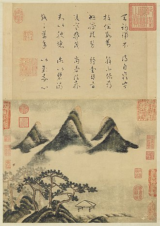 Song poetry - Mi Fu, c. 1100, Indian ink and color on paper.