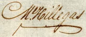 Michael Hillegas - Image: Michael Hillegas signature