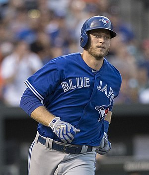 Michael Saunders - Saunders with the Toronto Blue Jays in 2016