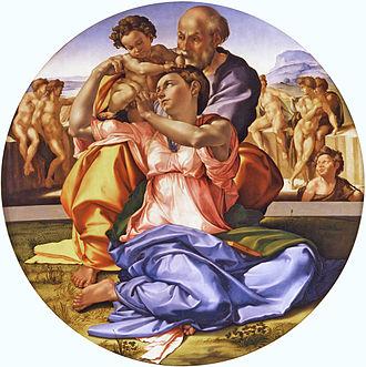 Doni Tondo - Image: Michelangelo Tondo Doni tone corrected