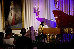 Awadagin Pratt - Awadagin Pratt playing in the East Room of the White House, November 2009