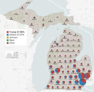 michigan 2016 presidential results by county png