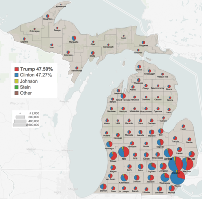 2016 United States presidential election in Michigan - Wikipedia