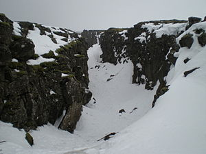 Fissure along the Mid Atlantic Ridge in Þingve...
