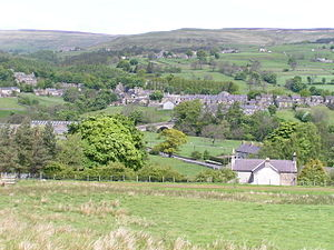 Middleton-in-Teesdale - Middleton-in-Teesdale from the south