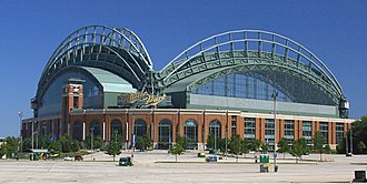 Miller Park (Milwaukee) - Exterior view showing retractable roof