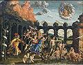 Minerve chassant les Vices du jardin des Vertus, Mantegna (Louvre INV 371) 02.jpg