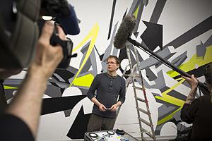 DAIM - Reisser (DAIM) in front of his walltaping, 2011