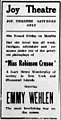 Miss Robinson Crusoe 1917 newspaper.jpg
