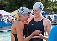 Missy Franklin with Cal teammate (18859923088).jpg