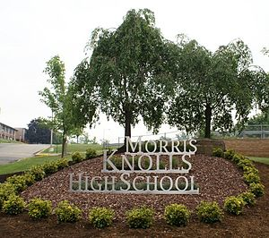 Morris Knolls High School - The new school sign: A project sponsored by the Student Government Association in conjunction with the Class of 2008 and the Interact Club.