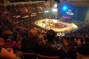 Over 3700 fans attend the opening bout of the 2007 Minnesota RollerGirls season in St. Paul
