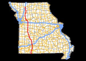 Missouri Route 13 - Image: Mo 13 path