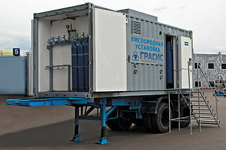 Oxygen plant - Type of performance on semitrailer