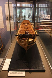 Model of HMS Foudroyant, in Monmouth Museum, 2.JPG