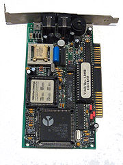 An ISA modem manufactured to conform to the V.34 protocol.