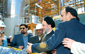 South Pars/North Dome Gas-Condensate field - President Mohammad Khatami visits south Pars Gas field in  January 25, 2002.