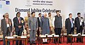 Mohd. Hamid Ansari at the valedictory function of the Diamond Jubilee celebrations of Insurance Institute of India, in Mumbai. The Governor of Maharashtra, Shri C. Vidyasagar Rao, the Chief Minister of Maharashtra.jpg