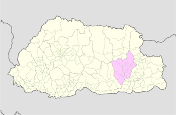 Location of Mongar Gewog