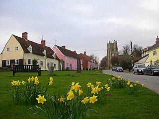 Monks Eleigh village in the United Kingdom