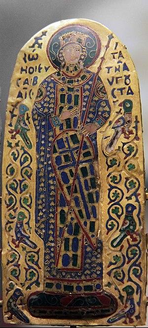 Byzantine enamel - Byzantine enamel from Monomachus crown - early 11th century