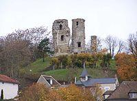 モンフォール城の天守閣跡