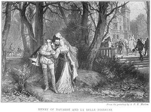 Françoise de Montmorency-Fosseux - Henri IV and La Belle Fosseuse after a painting by Antony Paul Emile Morlon