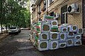 Moscow, Lefortovsky Val 24, pile of mineral wool mats (31136798850).jpg