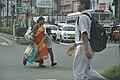 Mother And Child - Chinar Park Crossing - Rajarhat - Kolkata 2017-08-08 3946.JPG