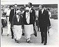 Mother Teresa walking with Br. Francis Blouin .jpg