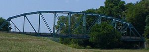 Illinois Route 15 - Former eastern terminus of the highway at the Wabash River bridge.