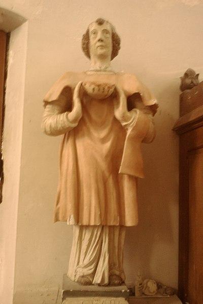 Statue Église Saint-Germain de fr:Moyon