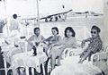 Mrs Latief, Sukarsih, Nano Mayo, Rd Mochtar waiting for Osman Gusmanti Dunia Film 1 Aug 1954 p16.jpg