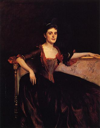 "Honolulu Museum of Art - Mrs. Thomas Lincoln Manson Jr (Mary Groot) 1890, by John Singer Sargent. Oil on canvas (56.06"" x 44.25"")"
