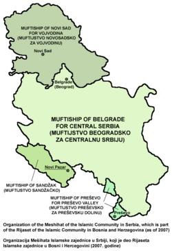 mapa b92 srbija Muftiship of Novi Sad   Wikipedia mapa b92 srbija