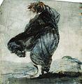 Mujer con los vestidos inflados por el viento, Francisco de Goya.jpg