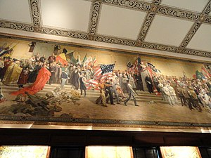 Panthéon de la Guerre - Section showing allies, now at Memory Hall, Liberty Memorial, Kansas City, Missouri