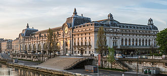 Musée d'Orsay - The Musée d'Orsay as seen from the Passerelle Léopold-Sédar-Senghor