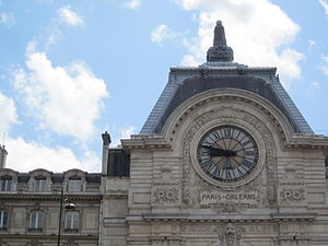 Compagnie du chemin de fer de Paris à Orléans - Main front of the Musée d'Orsay, which building was originally a railway station, Gare d'Orsay, constructed for the Chemin de fer de Paris à Orléans