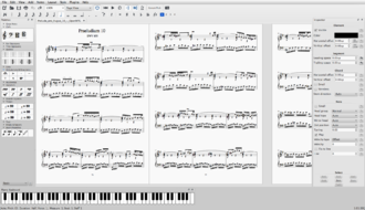 MuseScore - Image: Muse Score 2.0 in full screen