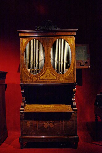 Music box - Music box by Diego Evans, London, now at the Museu de la Música de Barcelona in Catalonia