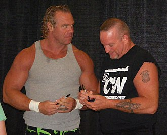 The New Age Outlaws - Billy Gunn (left) and Road Dogg (right) in September 2011
