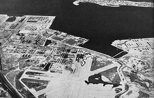 Naval Station Norfolk Chambers Field - Aerial view of NAS Norfolk in the mid-1940s