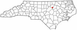 Location of Bunn, North Carolina