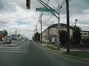 New Jersey Route 168 - Route 168 northbound at CR 659 in Bellmawr.